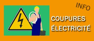 Coupures d'électricité vendredi 19 juillet entre 9h et 12h