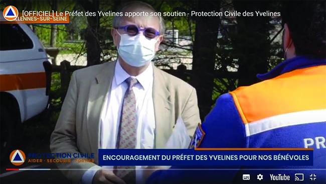 Le Préfet des Yvelines apporte son soutien - Protection Civile